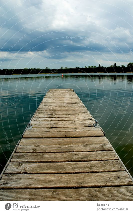 the bridge is over Footbridge Pond Lake Ocean Wood Wood flour Sky Clouds Water Lens