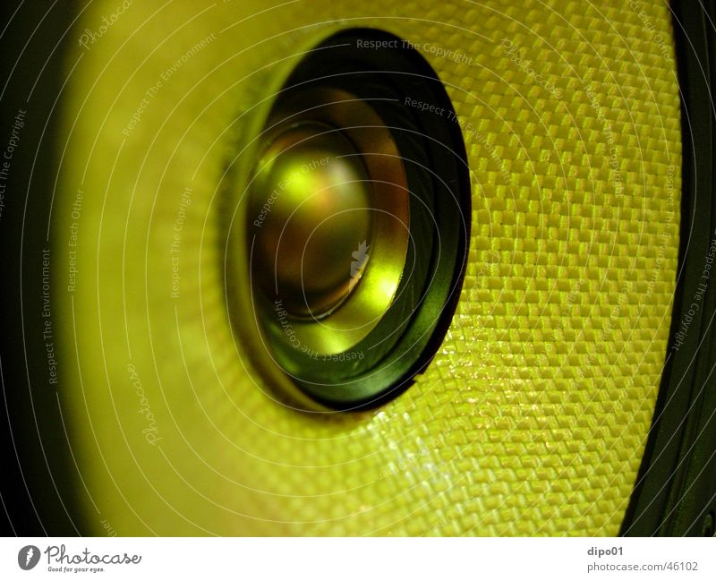 Yellow Loudspeaker Macro (Extreme close-up)