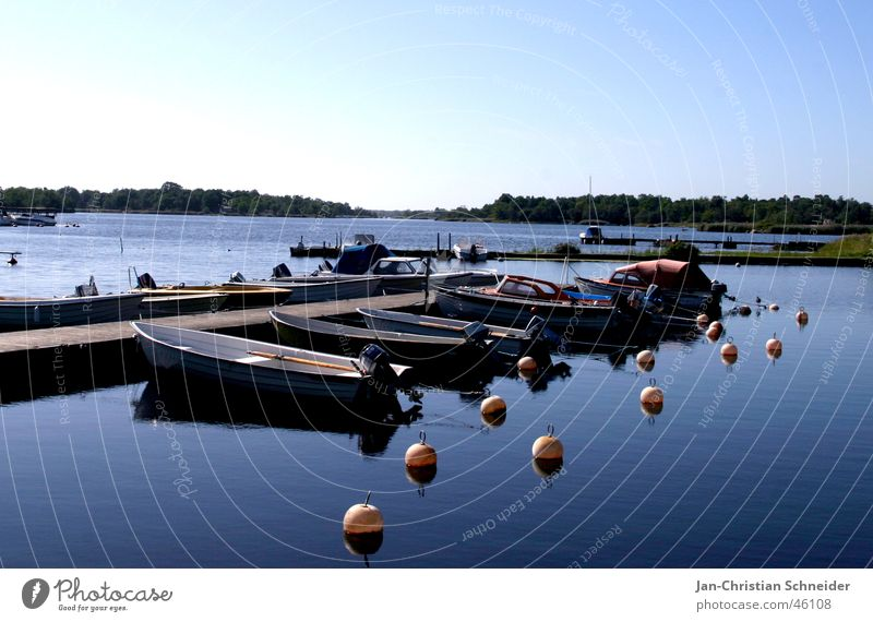 Bööte Watercraft Vacation & Travel Footbridge Sky Sweden Blue Sun