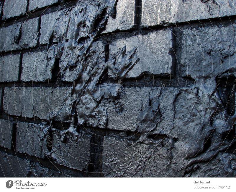 Wall (building) Gray Wall (barrier) Dirty Brick Silver Chemistry Mucus Sputum