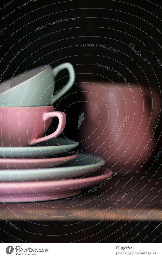 Pink Crockery Cup Chopping board Mixed Mint green Tea cup