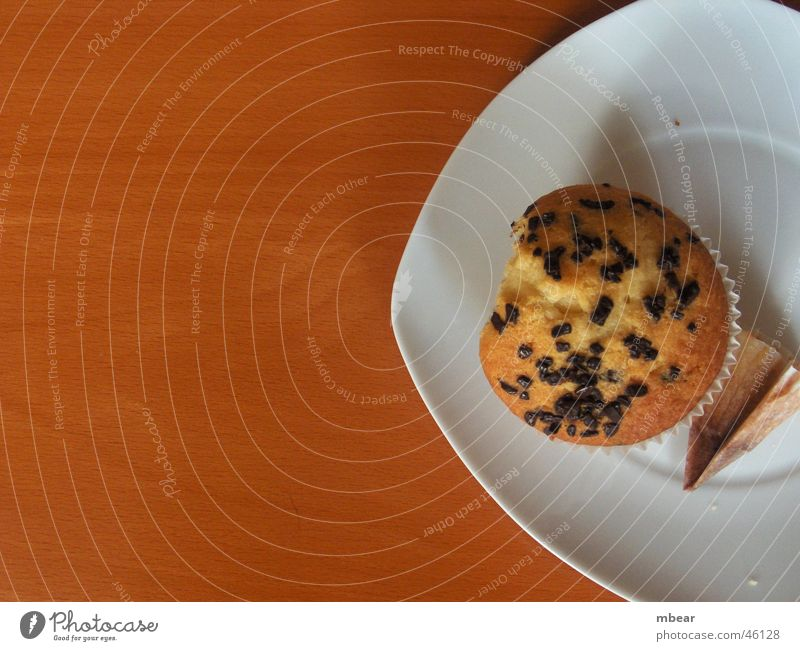 Wood Table Cake Plate Cookie Muffin Teatime