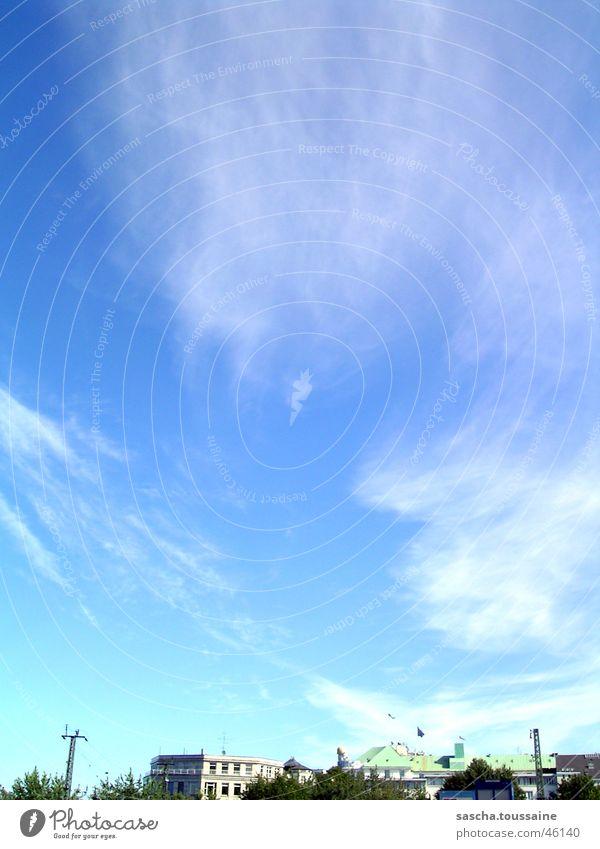 Sky Blue City Clouds Lighting Hamburg Clouds in the sky Cloud pattern Wisp of cloud