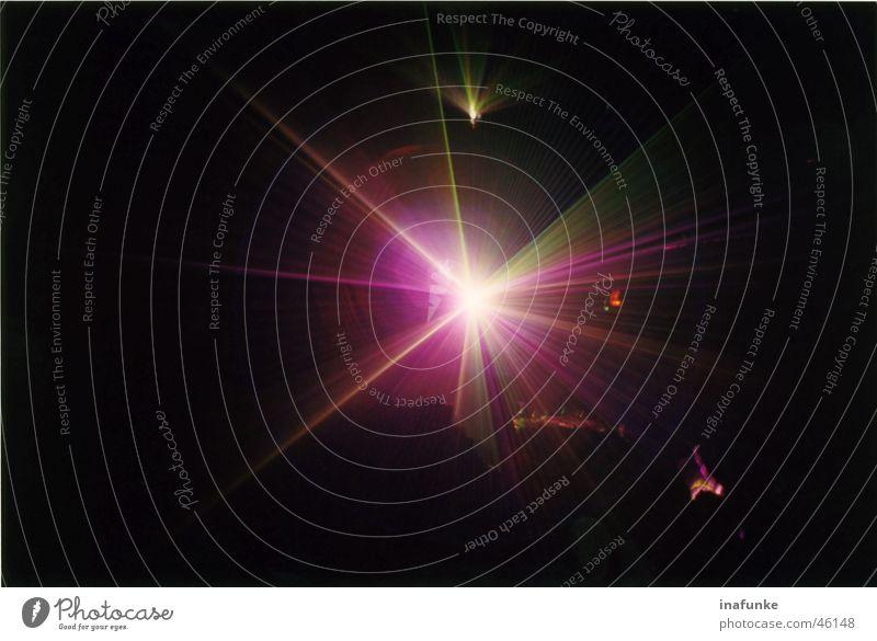Lighting Pink Laser Laser show Stalactie cave