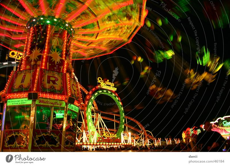 merry-go-round Oktoberfest Carousel Night Fairs & Carnivals Hot Air Balloon Multicoloured Munich Lighting