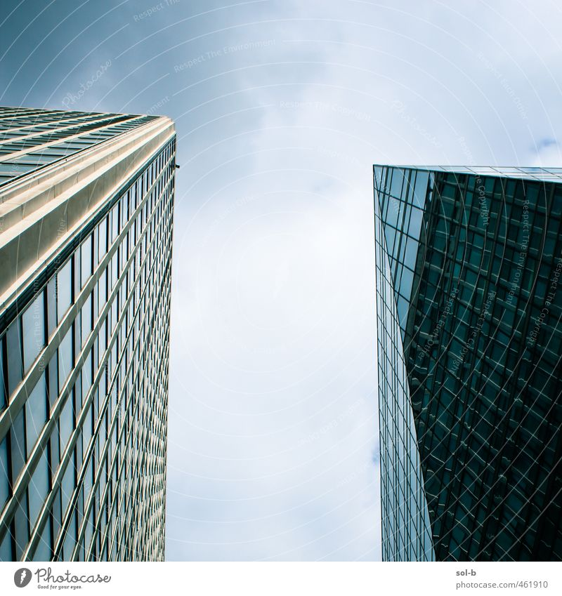 T Work and employment Office work Workplace Economy Trade Business Company Success Advancement Future Industry Sky Clouds Town High-rise Building Architecture