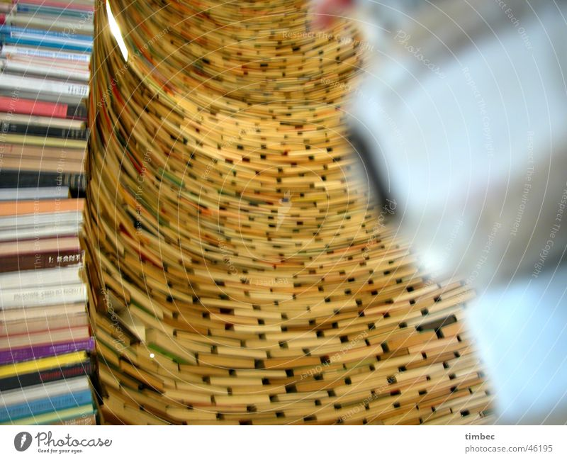 book tower Book Prague Library Czech Republic Round Blur Multiple Reading Produce Collection Literature Print media Novel Education Arch Perspective fountain
