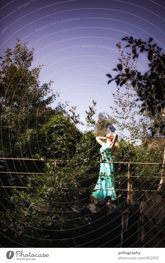 enjoy the nature Lifestyle Beautiful Human being Feminine Woman Adults Body 1 18 - 30 years Youth (Young adults) Nature Landscape Plant Cloudless sky Summer