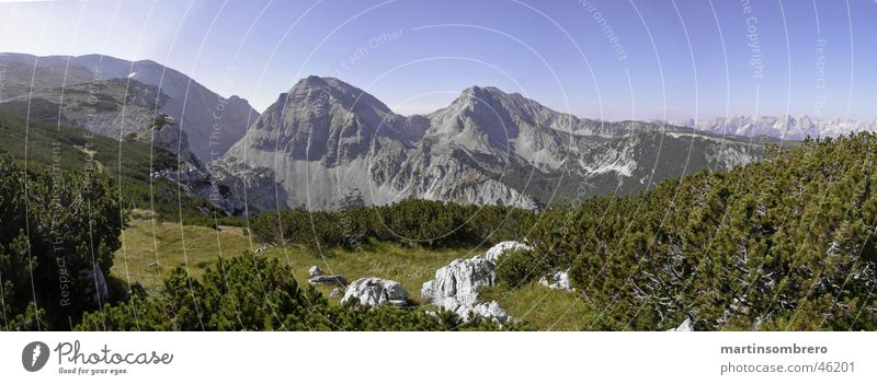 alpine kitsch Horizon Panorama (View) Hiking Mountain Nature Sky Rock Large Panorama (Format)