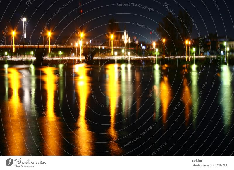 Water Dark Warmth Bridge River Asia Physics South Thailand Port City Altar Ko Tao