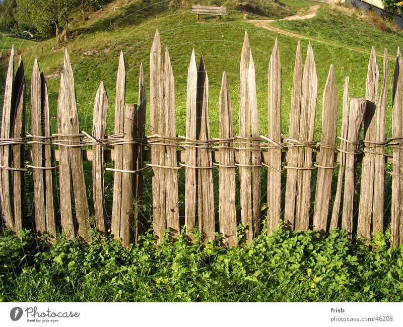 Old fence Fence Wood Wooden board Reticular