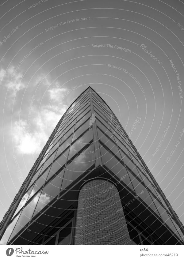 Sky White Black Clouds Gray Stone Building High-rise Perspective Modern Tower Cologne Manmade structures Column Complex