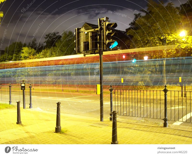 Dark Bright Industry Traffic infrastructure London England Traffic light Mixture Multicoloured