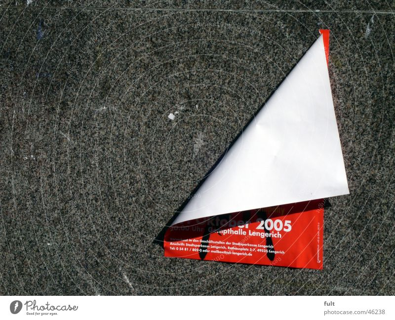 Red Wall (building) Stone Wall (barrier) Paper Advertising Poster Detached Printing Folded