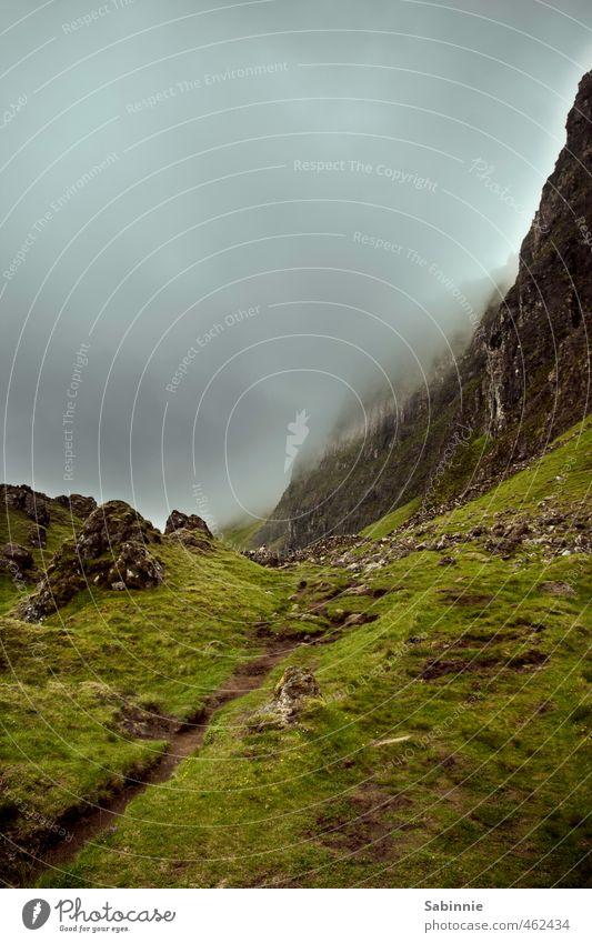 [Skye 11] Quiraing II Environment Nature Landscape Elements Earth Clouds Summer Bad weather Gale Fog Plant Rock Mountain Stone Isle of Skye Scotland Hiking