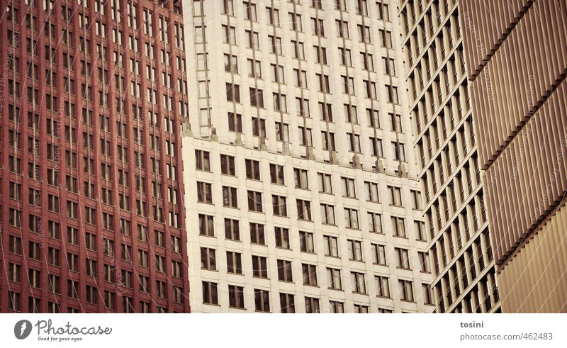 City Window Architecture Building Line Brown High-rise Perspective Putrefy Manmade structures Bank building Irritation Parallel Classical modern Deception