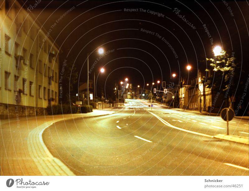 Suhl night views Town Night Thuringia Main street Lantern wallow Street