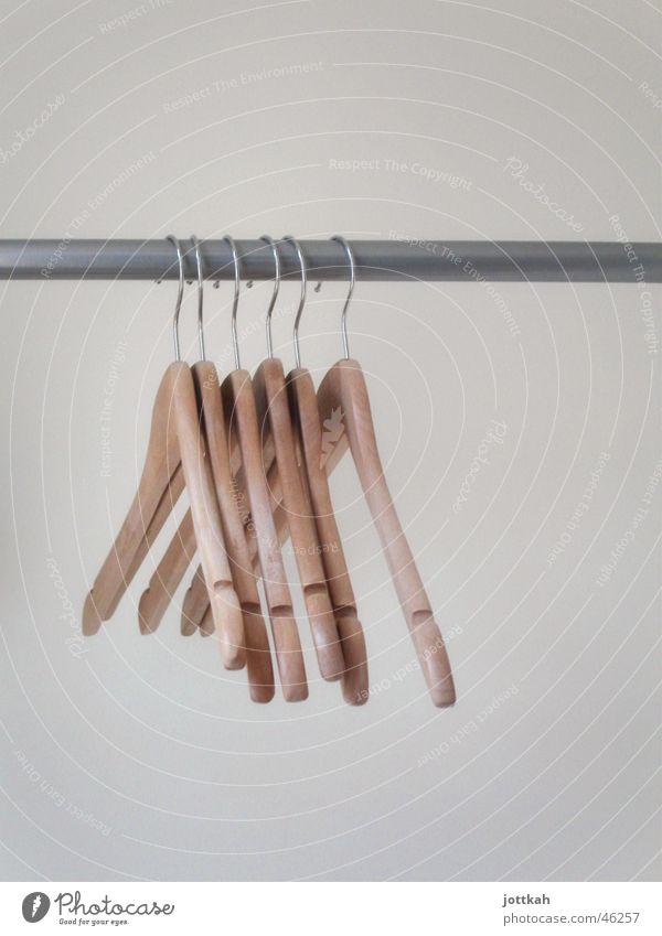 Arrangement Empty Clothing Jacket Row Hang Rod Hang up Extract Hanger