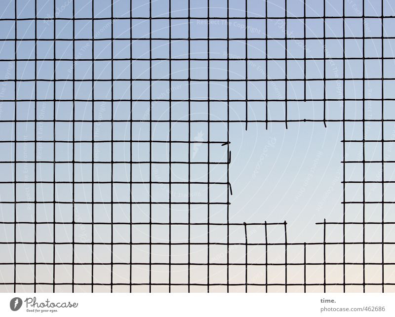 corridor Sky Grating Mesh grid Hollow Wire Wire mesh Metal Line Network Exceptional Sharp-edged Simple Firm Power Disappointment Claustrophobia Resolve