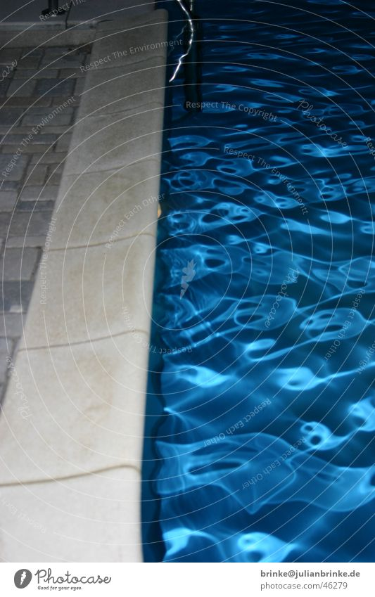 cold, clear water II Swimming pool Waves Light Edge Water Blue Julian brink swimming border Guinea pig