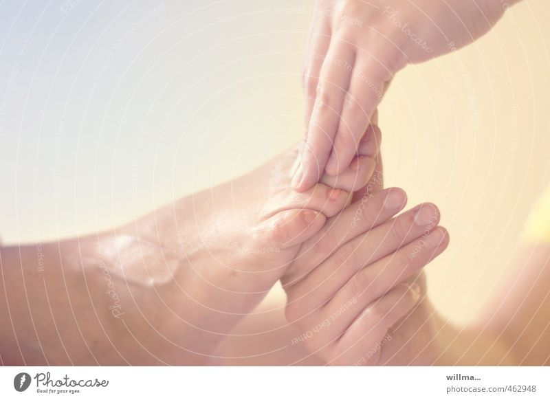 Hand Relaxation Health care Feet Contentment Wellness Well-being Pain Harmonious Smooth Alternative medicine Massage Senses Pastel tone Medical treatment