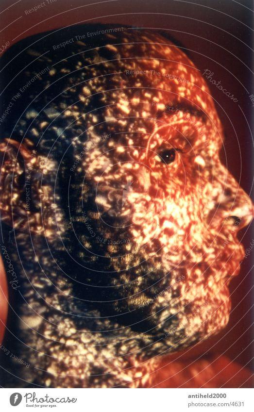 Baffled Slide Man Light Photographic technology surprise Stupid