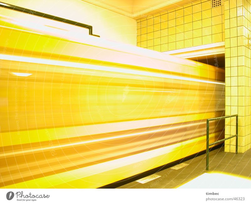 Yellow Movement Orange Wind Walking Speed Railroad Floor covering Europe Cleaning Driving Railroad tracks Lightning Underground Passion Station