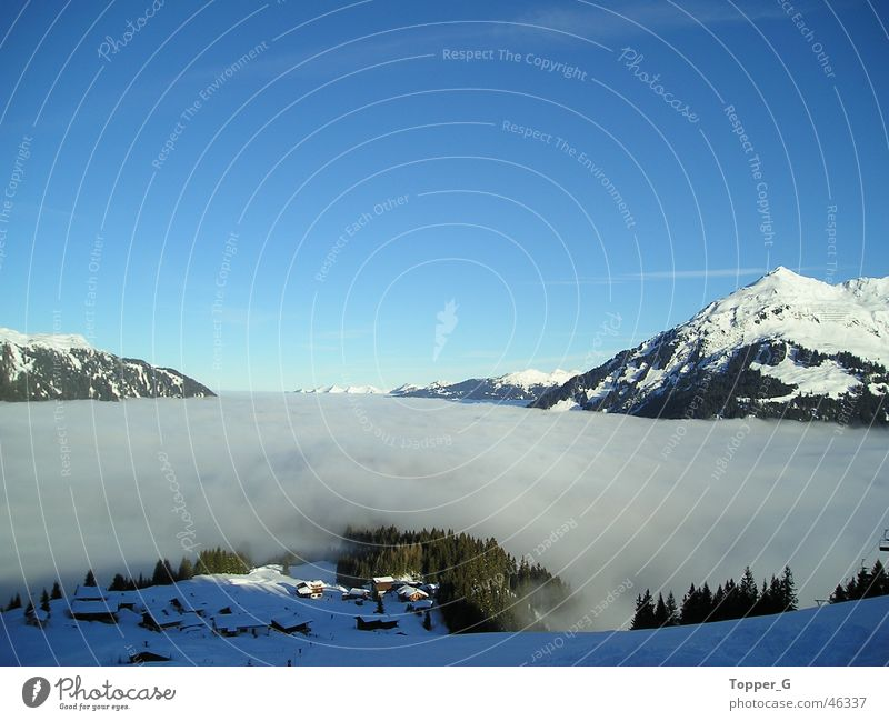 Sky Blue Vacation & Travel Clouds Snow Mountain Freedom Alps Austria