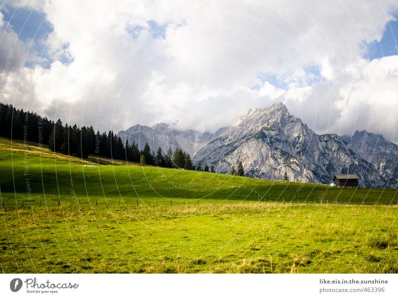 postcard greetings from tirol: 1€ Senses Relaxation Calm Meditation Vacation & Travel Tourism Far-off places Freedom Summer vacation Environment Nature