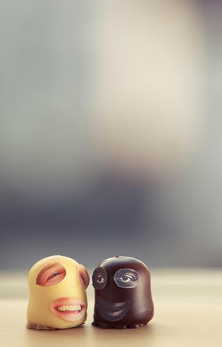 Yellow Emotions Funny Laughter Moody Together Grinning Tolerant Low-cut Chocolate marshmallows Stuck on