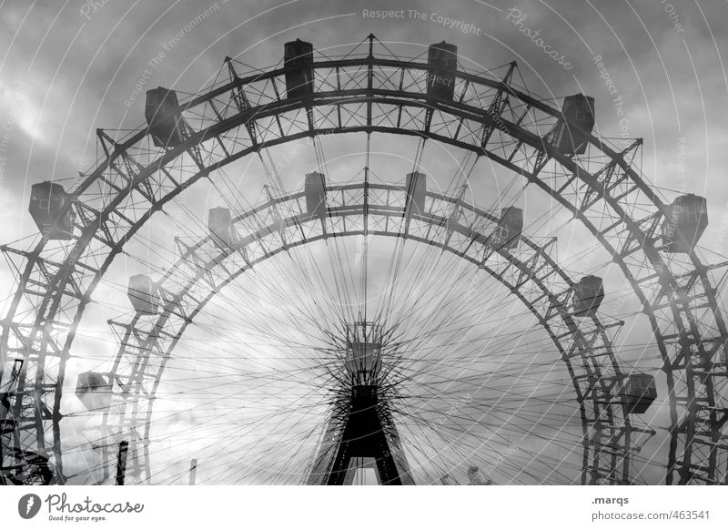 funfair Joy Trip Fairs & Carnivals Sky Storm clouds Ferris wheel Exceptional Threat Free Beautiful Freedom Leisure and hobbies Nostalgia Rotate Double exposure