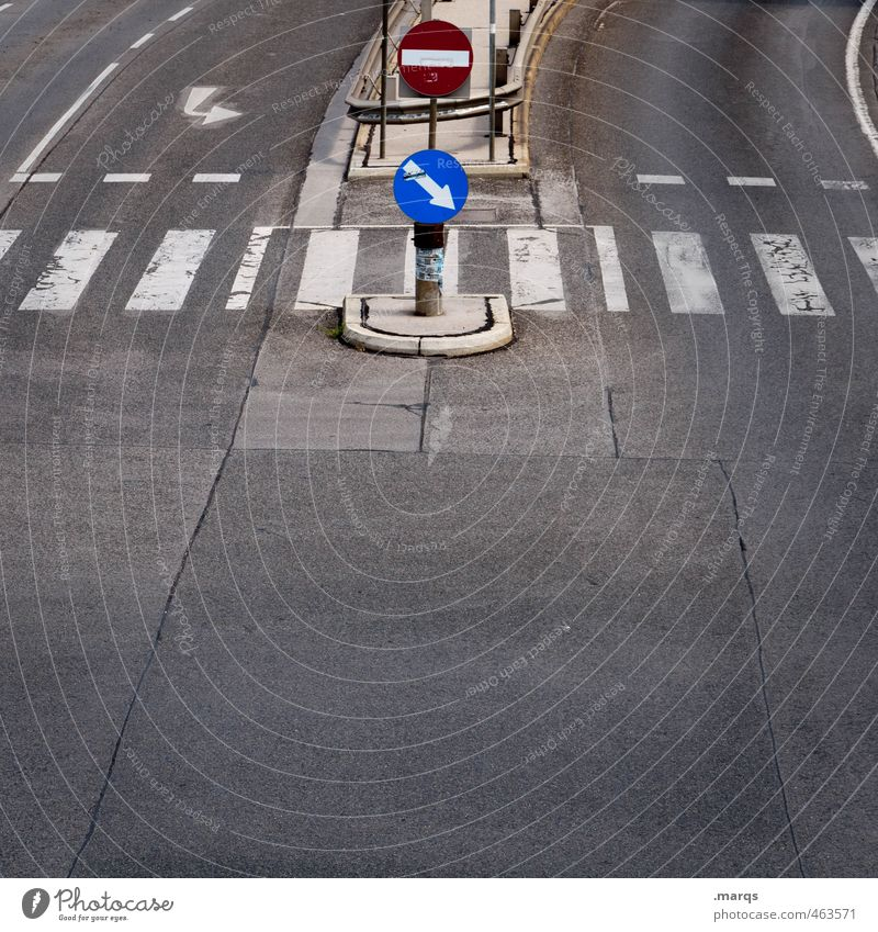 STOP AND GO Vacation & Travel Trip Transport Traffic infrastructure Motoring Street Crossroads Lanes & trails Zebra crossing Signs and labeling Signage