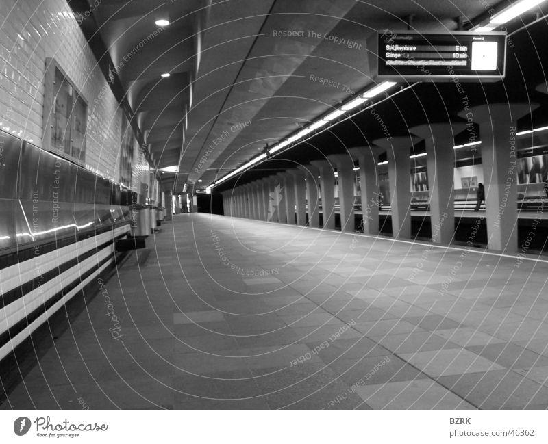 Silence metro station Rotterdam Station black & white Underground empty