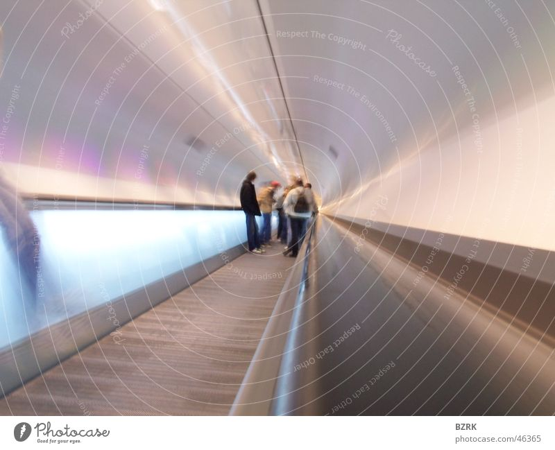 traveling with the speed of light Light Human being Tunnel long shutterspeed escalator.