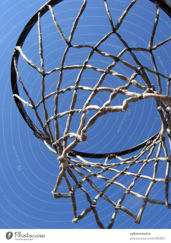 Sky Blue Summer Sports Net Basket Basketball