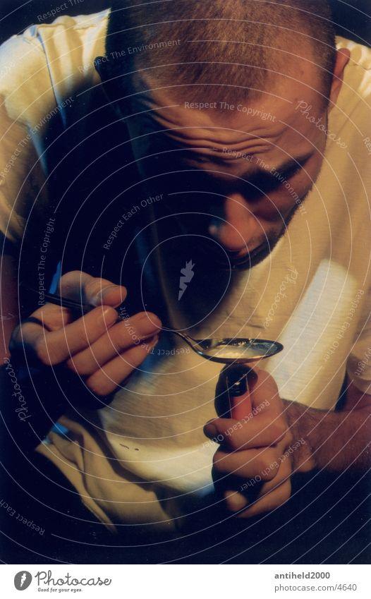 Human being Intoxicant Syringe Drug user Junkie Portrait photograph Heroin