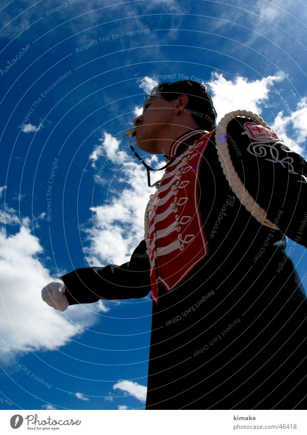 Sky Man Clouds Musician Mexico
