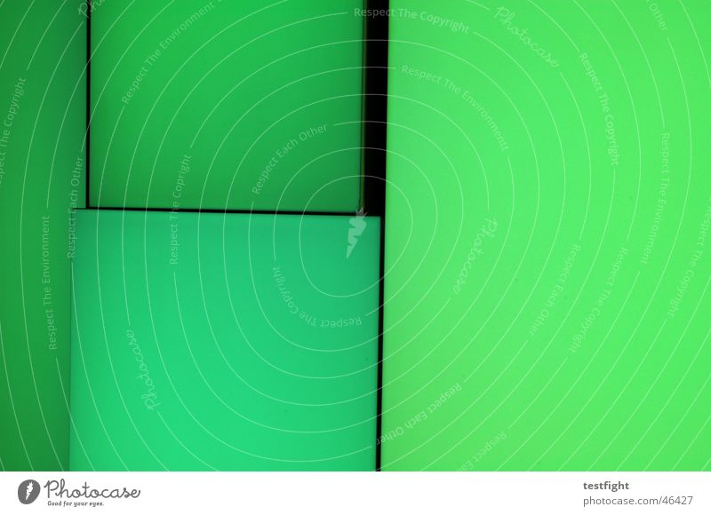 Green Colour Wall (barrier) Lighting Wall of color Wall of light