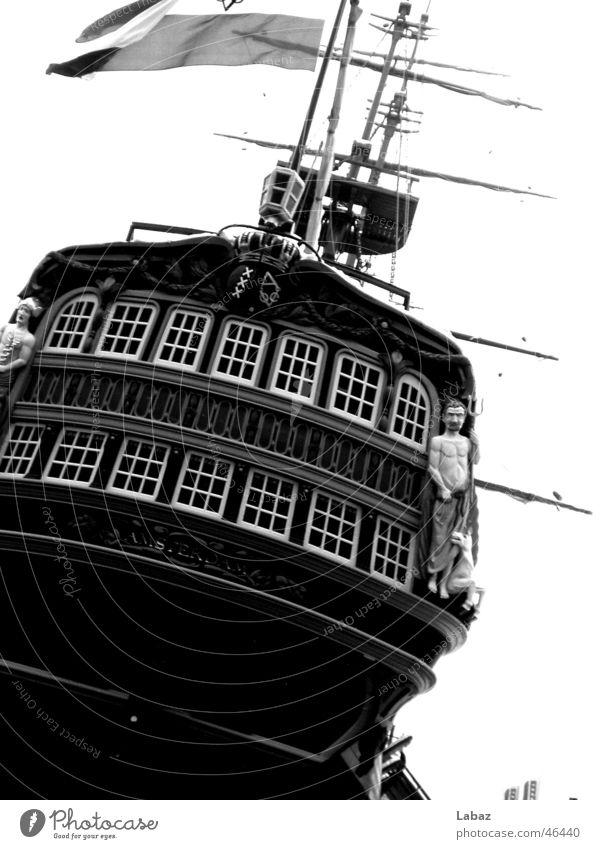 ship Watercraft Amsterdam Sail Black & white photo