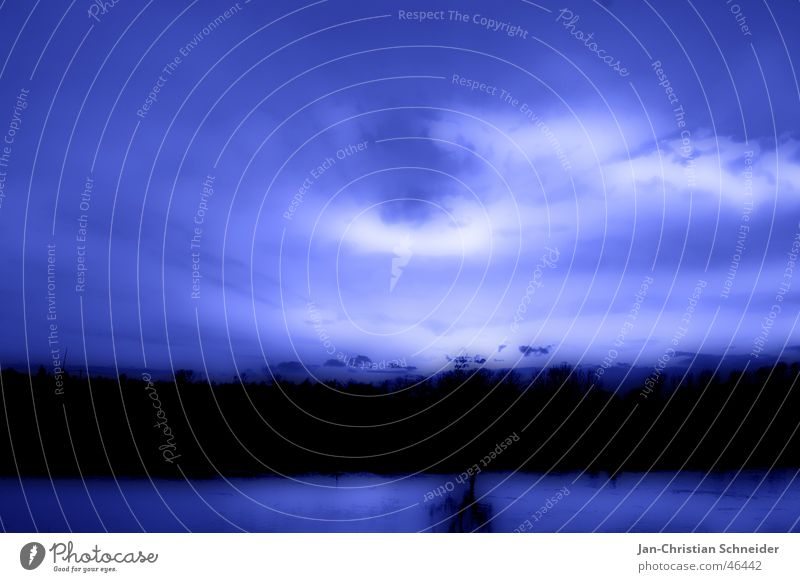 Water Sky White Tree Sun Blue Clouds Dark Bright River Mystic God Deities Weser