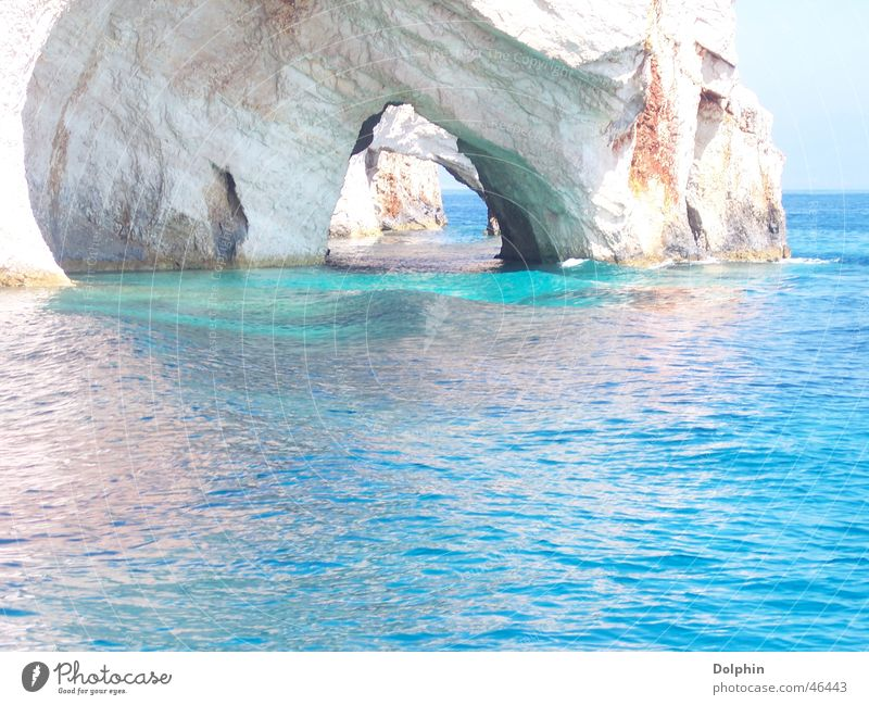 Beautiful Ocean Blue Vacation & Travel Landscape Island Greece Cave Gorgeous Restorative Zakynthos