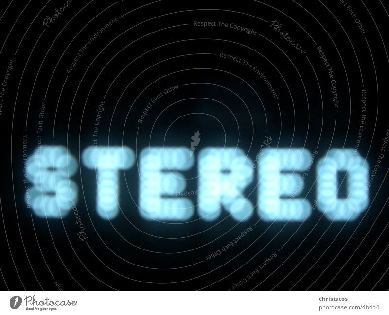 stereo Stereo Black Circle Blur Letters (alphabet) Blue Music receiver Share Point