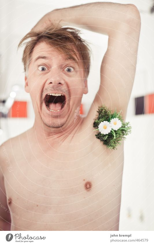 500 | Spring awakening Human being Masculine Face Chest Armpit Underarm hair 30 - 45 years Adults Flower Meadow Bathroom Hair Blossoming Growth Hip & trendy