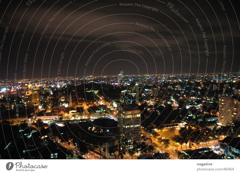 Ho Chi Minh City @ Night Town Vietnam Saigon Downtown Night life Skyline