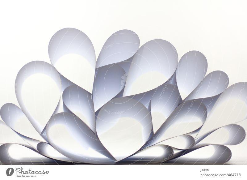 White Art Design Heart Circle Paper Pyramid