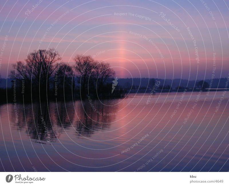 break of dawn Brilliant Blue Pink Light Sky and