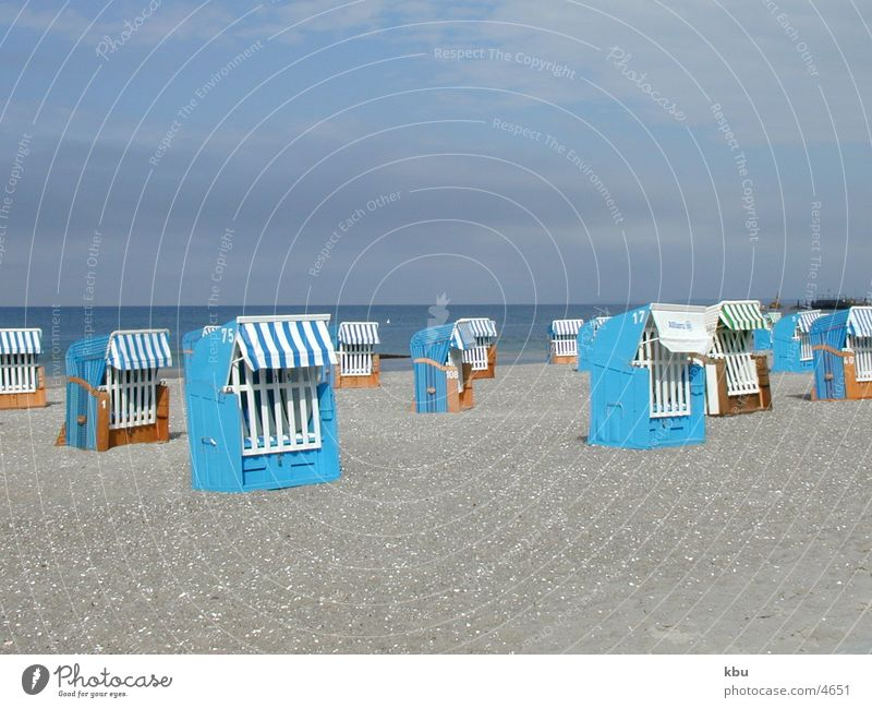 blue beach Beach Beach chair Vacation & Travel Ocean no sun Blue