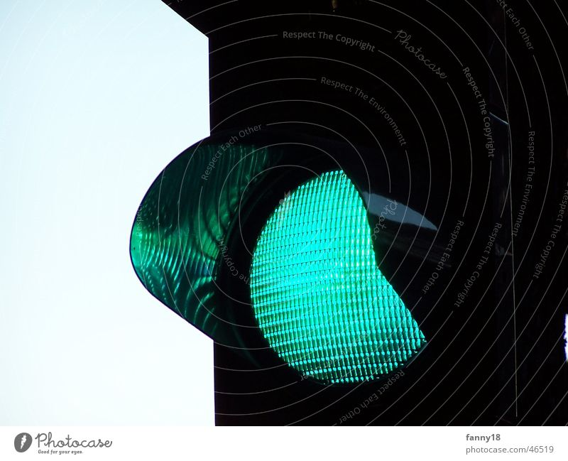 Green Street Lamp Bright Transport Signage Traffic light