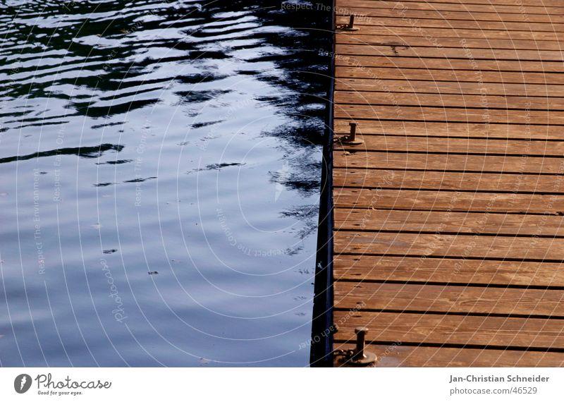 Water Sky Wood Lake Watercraft Waves Footbridge Wooden board Screw