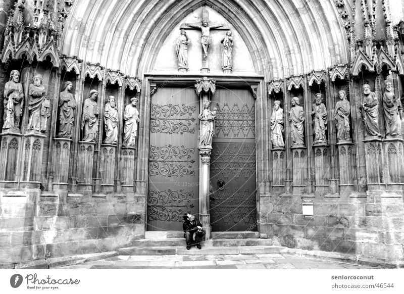 Stone Religion and faith Door Poverty Holy Dome Tramp Erfurt